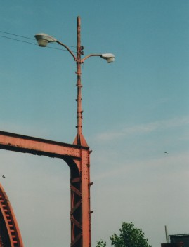 Lighting on the bridge. Photo by Roman